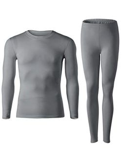 MOLLDAN Mens Thermal Underwear Baselayer Long Johns Tops & Bottom Set with Fleece Lined