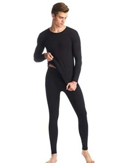 Men's Thermal Underwear Long Johns Set with Warm Soft Fleece Lined
