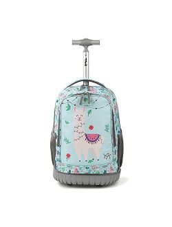 Tilami Rolling Backpack 19 inch Wheeled Cute LAPTOP Boys Girls Travel School Student Trip