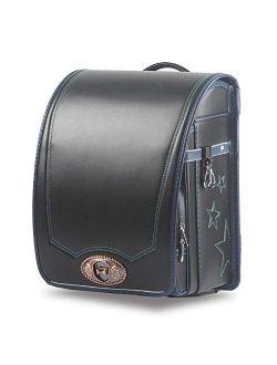 Ransel Randoseru Semi-automatic Japanese school bags PU leather for girls boys