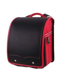 ransel randoseru japanese fully-automatic school bags Senior waterproof PU leather