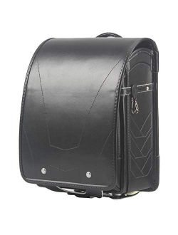 Ransel Randoseru Semi-automatic Japanese school bags for girls boys PU leather