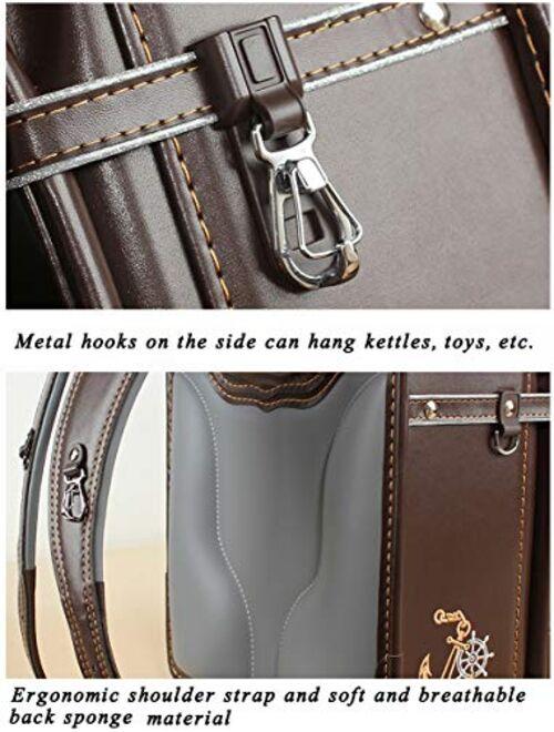 randoseru Embroidery pattern luxury bags japanese lighten up backpack PU leather