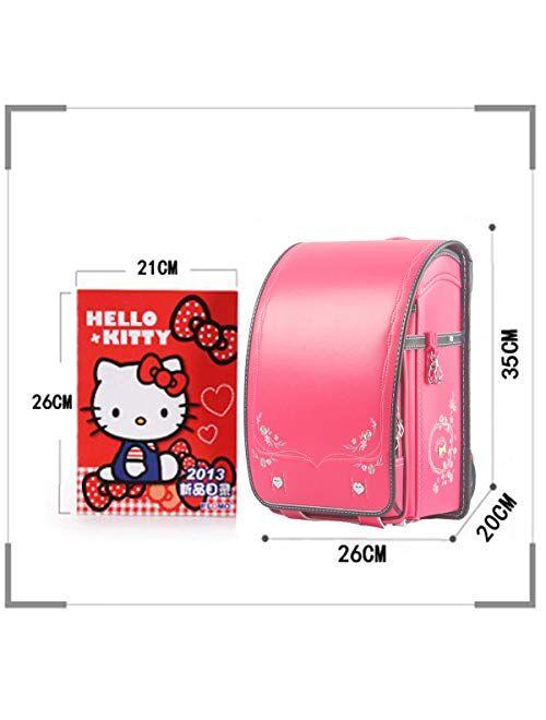 randoseru ransel Japanese upscale school bags for boys girls large capacity Senior PU leather light weight backpack