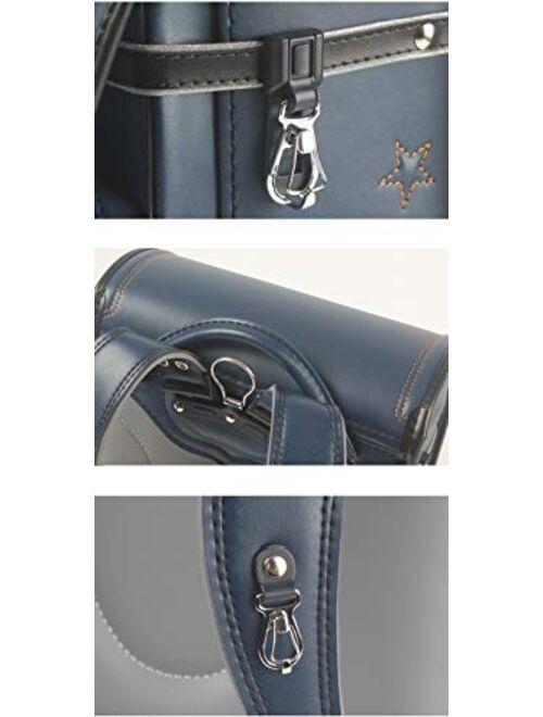 randoseru backpack ransel Semi-automatic japanese boys girls school bags for waterpoor PU leather light weight