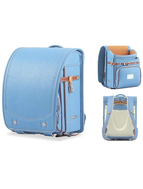 Ransel Randoseru Automatic Japanese school bags for girls boys Senior PU leather