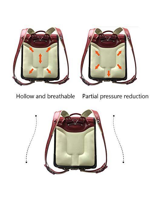 Ransel Randoseru automatic Japanese school bags for girls boys Kids PU leather