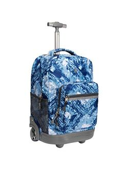 WEISHENGDA 18 inches Wheeled Rolling Backpack for Adults and School Students Books Travel Bag