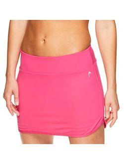 HEAD Women's Athletic Tennis Skirt with Ball Pocket - Workout Golf Exercise & Running Skort