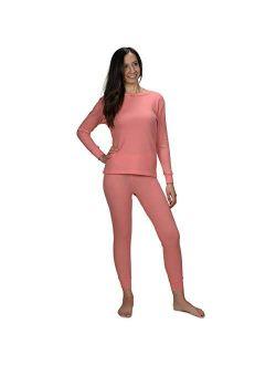Women's Soft 100% Cotton Waffle Thermal Underwear Long Johns Sets