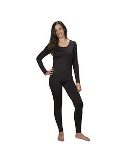 Women's Ultra Soft Thermal Underwear Long Johns Set with Fleece Lined All