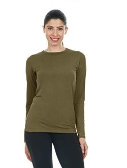 Thermajane Womens Ultra Soft Thermal Underwear Shirt Compression Baselayer Crew Neck Top