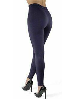 High Waisted Leggings - Super Soft Full, Navy, Size One Size