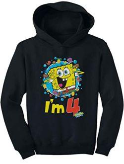 Official Spongebob - 4th Birthday I'm 4 Toddler Hoodie