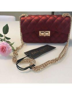 Luxury Bag Shoulder Handbags Womens Bag Crossbody Red Golden