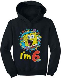 Official Spongebob - 6th Birthday I'm 6 Toddler Hoodie