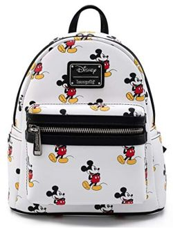 Disney Mickey Mouse All Over Print Womens Double Strap Shoulder Bag Purse