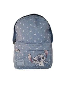 Disney Lilo And Stitch Denim Mini Backpack