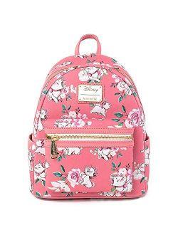 Disney The Aristocats Marie Pink Floral Allover-print Mini Fashion Handbag Backpack Wdbk1287