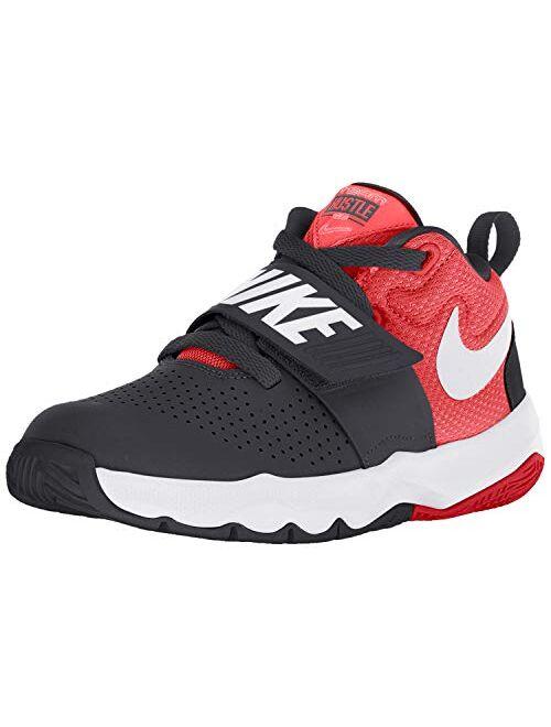 Nike Team Hustle D 8 Little Kid's Shoes Black/White/University Red 881942-004