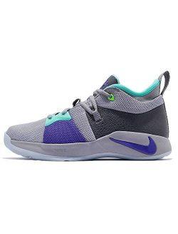 Kids Pg 2 (gs) Pure Platinum/neo Turq Basketball Shoe