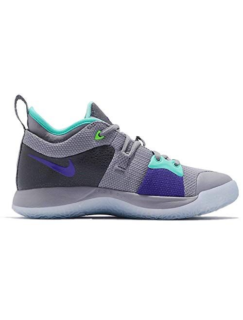 Nike Kids PG 2 (GS) Pure Platinum/Neo Turq Basketball Shoe