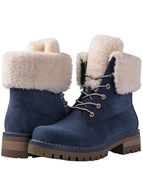 GLOBALWIN Women's Winter Classic Faux Fur Lined Fashion Ankle Boots