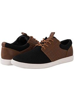 Men's Lace Up Fashion Sneakers 4 Eyelets Casual Shoes For Men