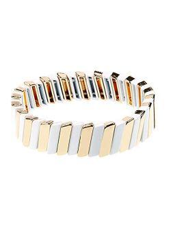 Enamel Tile Tila Bracelets Colorful Beaded Bracelet For Lady Women & Men Bracelet