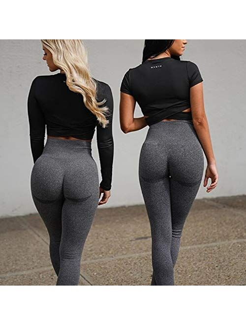 NEW YOUNG Scrunch TIK Tok Leggings for Women Butt Lifting-Womens Workout High Waisted Yoga Pants Tummy Control Tights