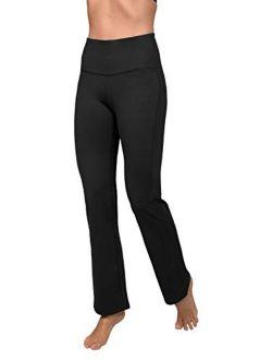 90 Degree By Reflex High Waist Boot Cut Yoga Pants with Warm Fleece Lining