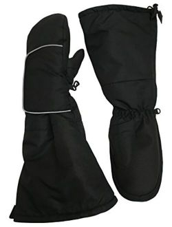 N'Ice Caps Kids Waterproof Thinsulate Elbow Length Cuff Snow Mittens