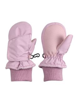 NICE CAPS Kids Easy On Thinsulate Waterproof Secure-Wrap Mitten for Boys Girls Infant Toddler Kids