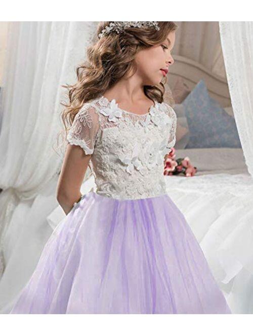 NNJXD Girls Princess Pageant Long Dress Kids Prom Ball Gowns
