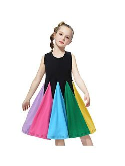 Little Girl A-line Dress Floral Print Sundress Princess Dresses