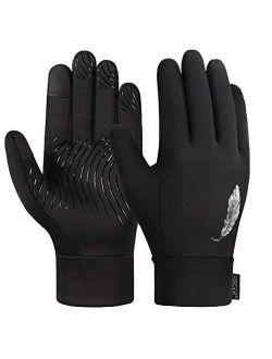 Kids Gloveswinter Gloves Touch Screen Gloves Anti-slip Cycling Gloves Sport Gloves For Children Kids Black Gloves