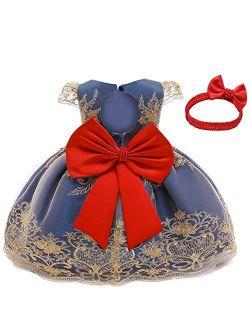 Toddler Princess Flower Dress Baby Girls Birthday Wedding Party Dresses