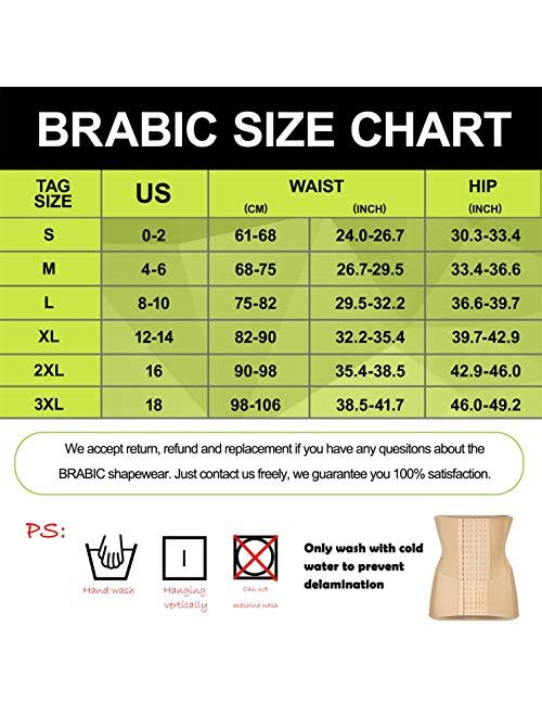 BRABIC 2 in 1 Postpartum Belly Wrap Girdle Pelvis Belt Waist Trainer Tummy Control Shapewear for Women