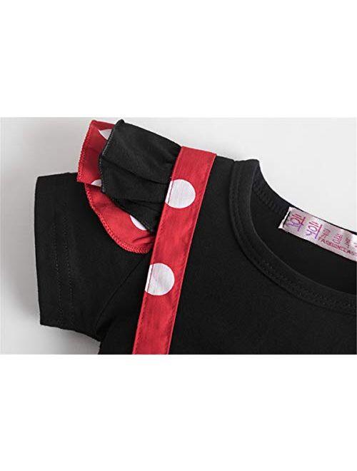 NNJXD Newborn Baby Girls Shorts Set T-Shirt Top Toddler Girl Clothes
