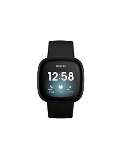 Versa 3 Health & Fitness Smartwatch With Gps, 24/7 Heart Rate, Alexa Built-in, 6+ Days Battery, One Size (s & L Bands Included)