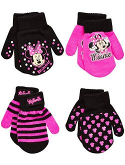 Girls 4 Pack Gloves Or Mittens : Minnie Mouse, Vamperina (toddler/little Girls)