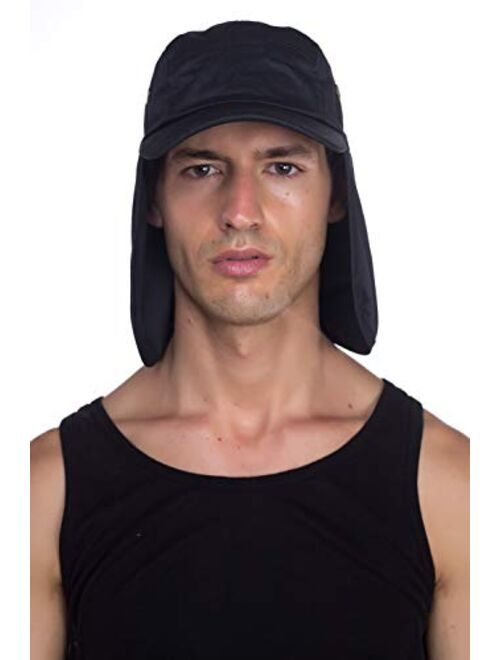 Top Level Outdoor Fishing Sun Cap - Ear Neck Flap Hat