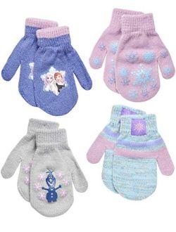 Frozen Girls 4 Pack Gloves Or Mittens (toddler/little Girls)