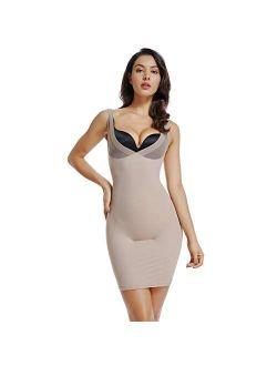 Full Slips for Women Under Dresses Tummy Control Shapewear Slip Seamless Slimming Body Shaper Slip