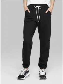 Women's High-rise Vintage Jogger Sweatpants, Black, Xs #10
