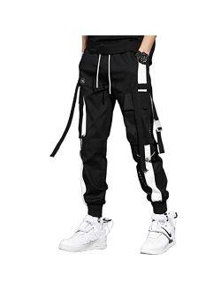 Mens Long Casual Cargo Pants Boys Girls Young Streetwear Pant Wild Women Loose Street Hip Hop Sports