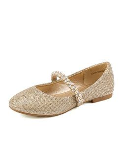 Girls Toddler/little Kid/big Kid Serena-100 Mary Jane Ballerina Flat Shoes