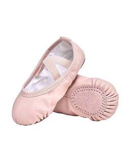 STELLE Girls Ballet Dance Shoes Slippers for Kids Toddler