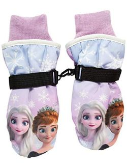Girls' Winter Insulated Snow Ski Gloves Minnie Mouse Or Frozen Ii Elsa & Anna (toddler/little Girls)