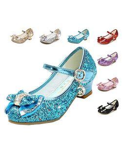 Cadidi Dinos Heel Mary Jane Princess Flower Shoes For Girls